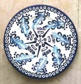 Hand painted Turkish Blue and White Wall Plate 9611