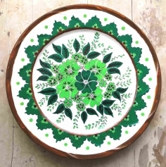 Hand painted Turkish wall plate (Large) 9610