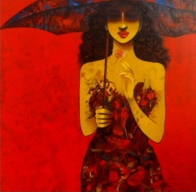 Girl with Umbrella 10513
