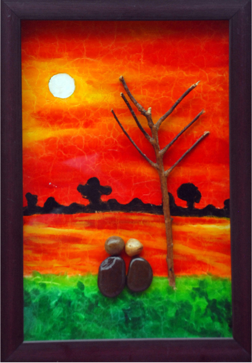 Couple watching a sunrise 11254