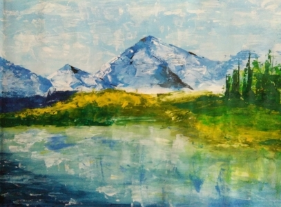 Mountain and river 11310