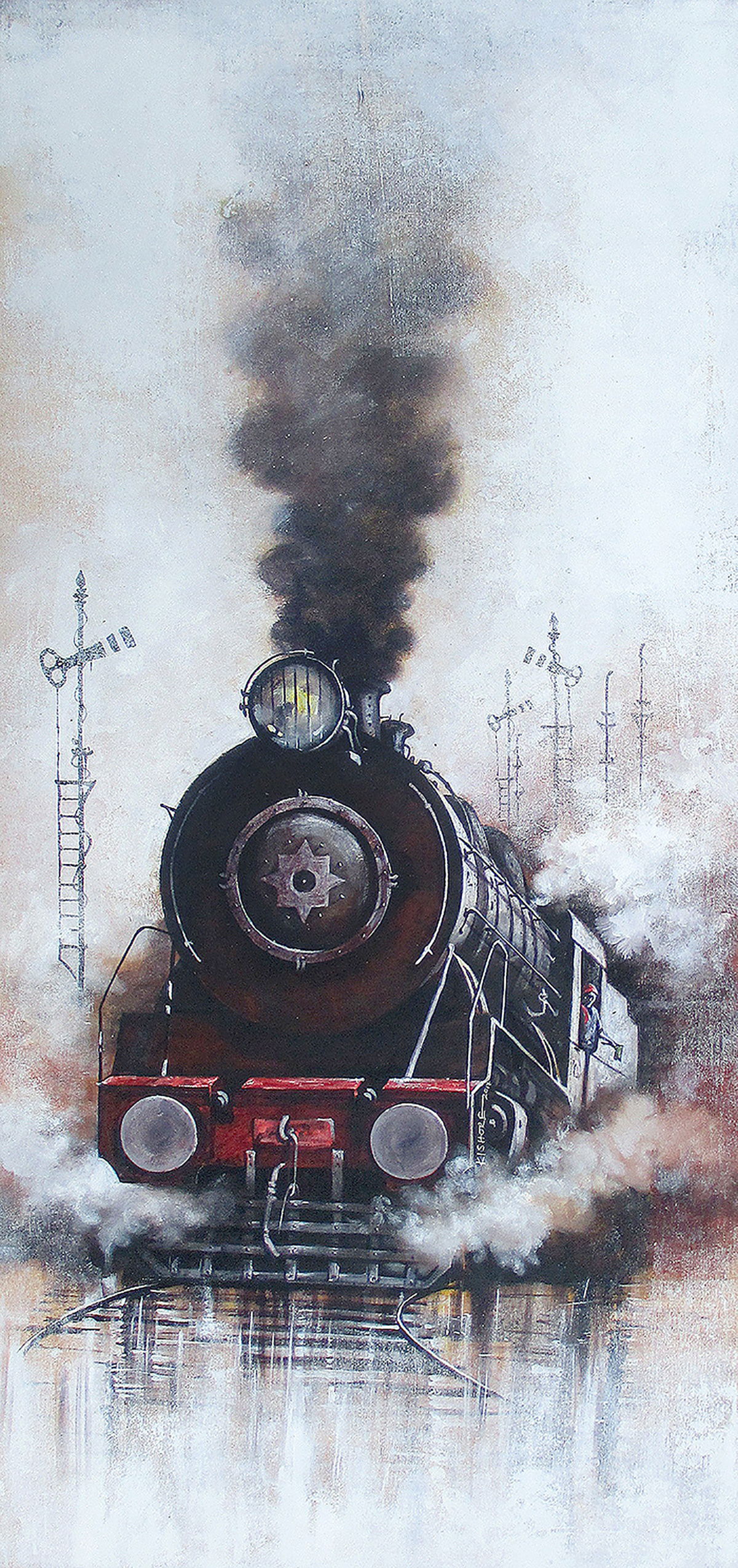 Indian steam locomotives30 9019