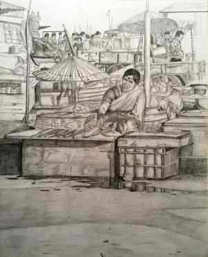 Harbour fish market 12413