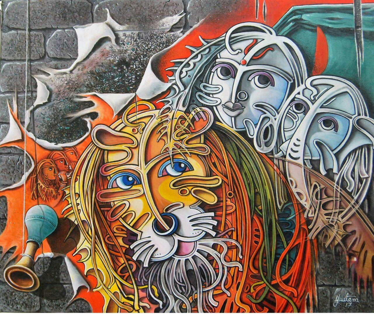 Buy Painting Durga Artwork No 12611 By Indian Artist