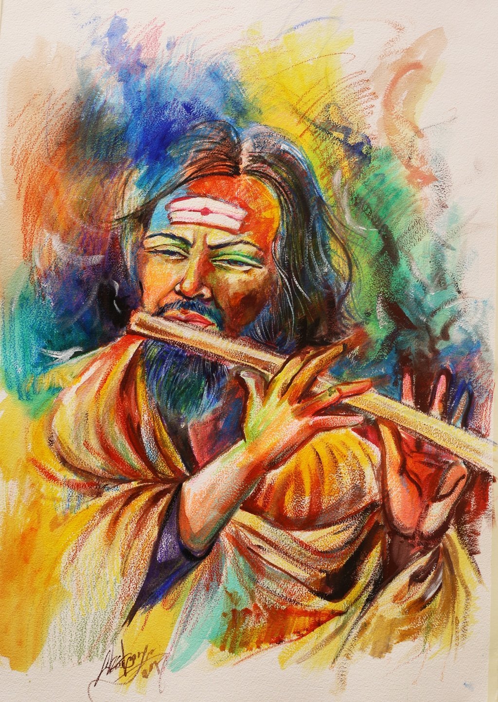 Flute Player 12779
