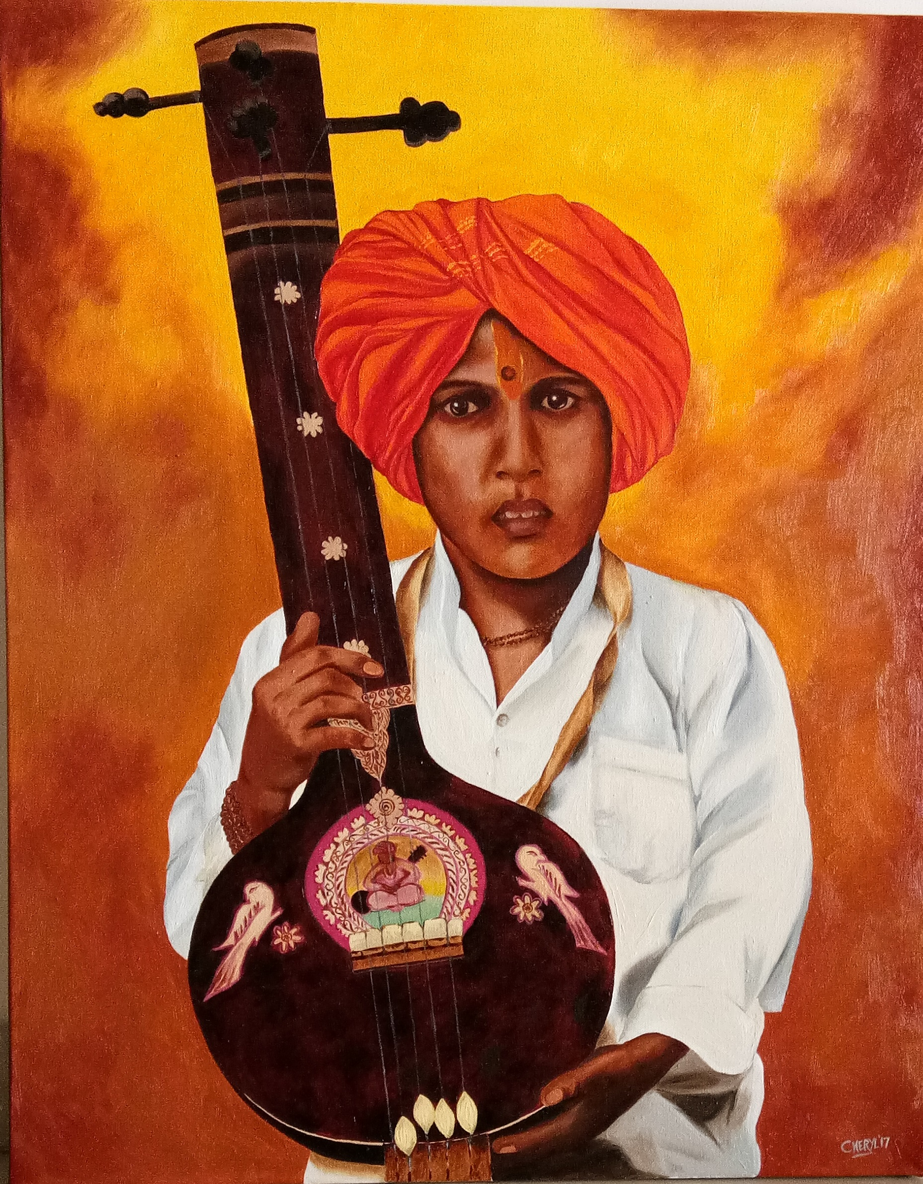 Boy with Tanpura 12909