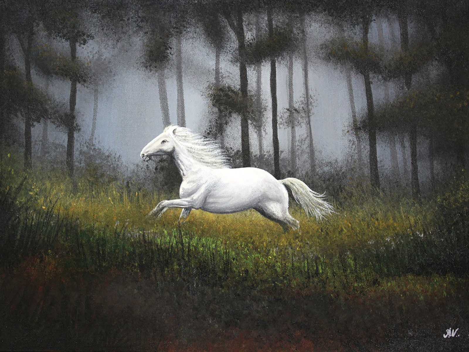 The White Stallion 13051