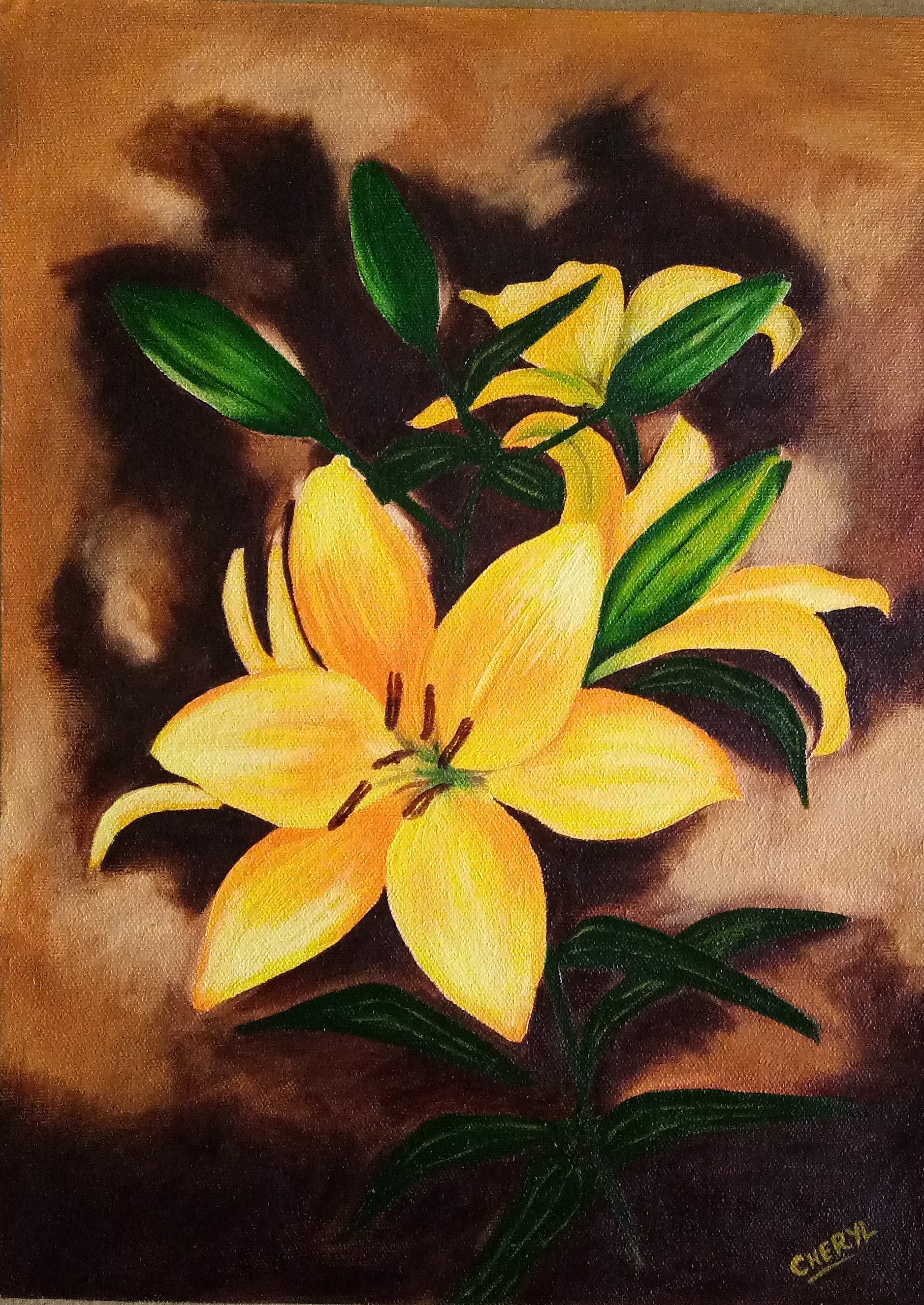 Yellow Lilies 13304