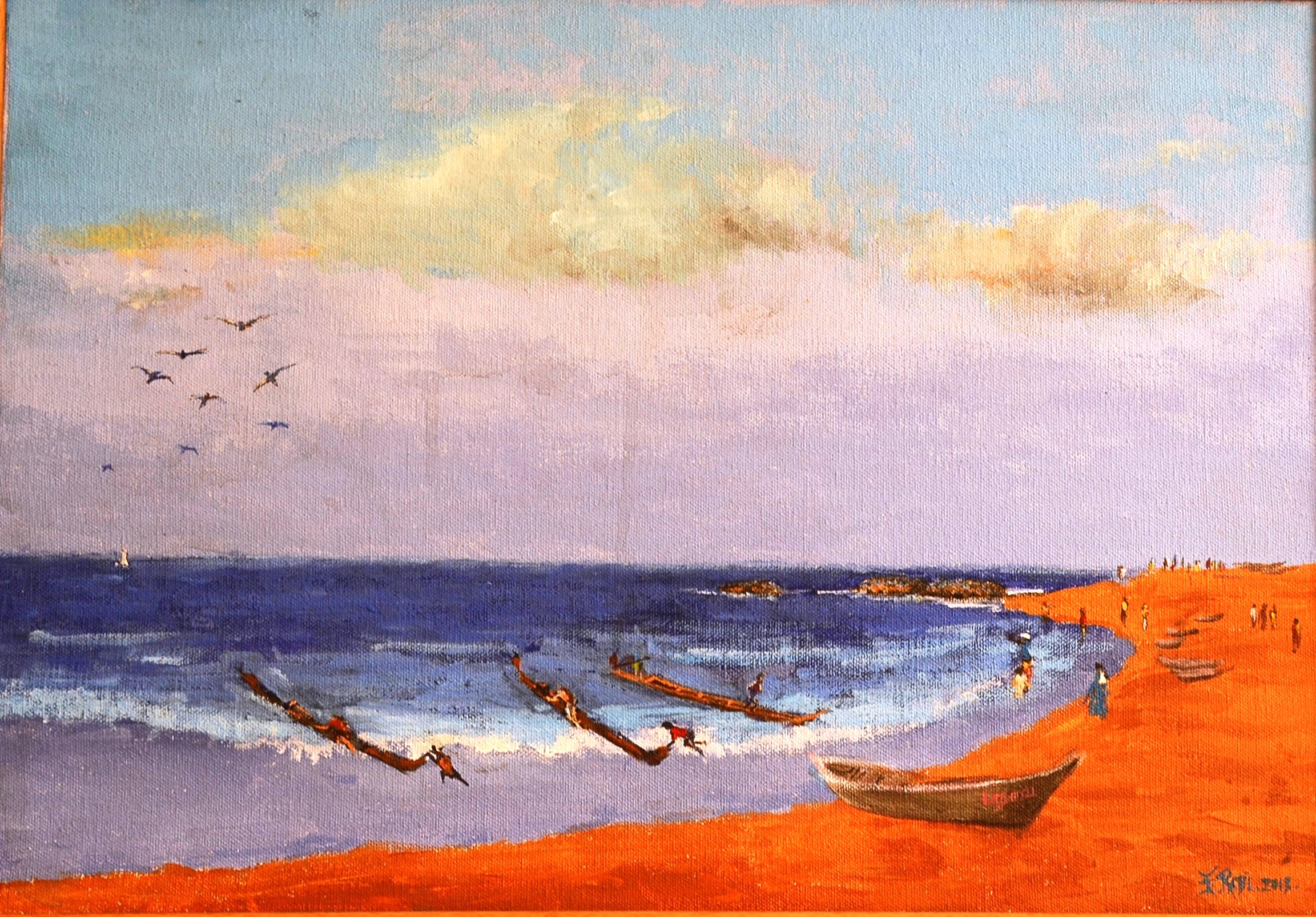 Boats at sea 13402