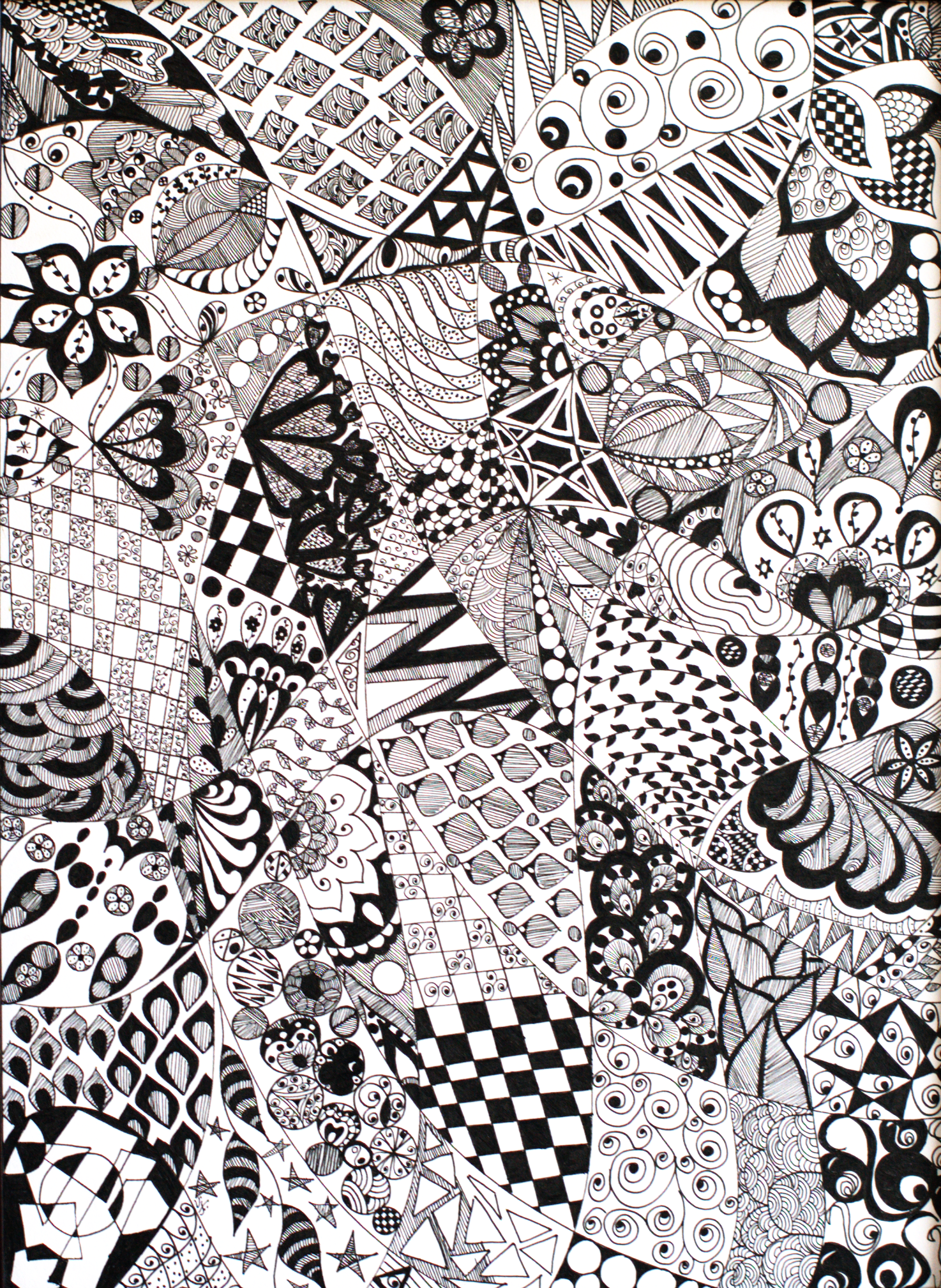 Black and White Doodle 13113