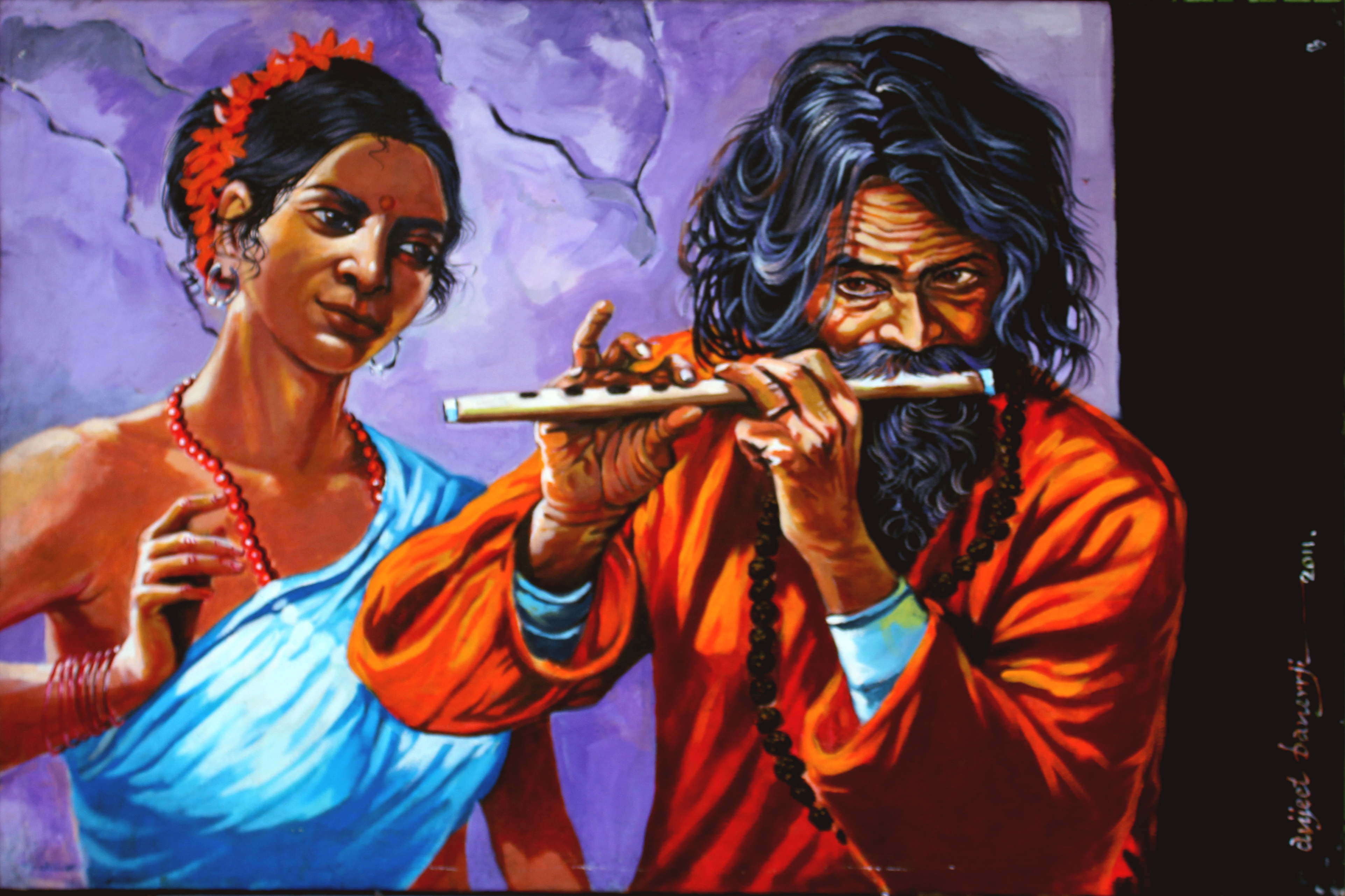 Flute player 13684