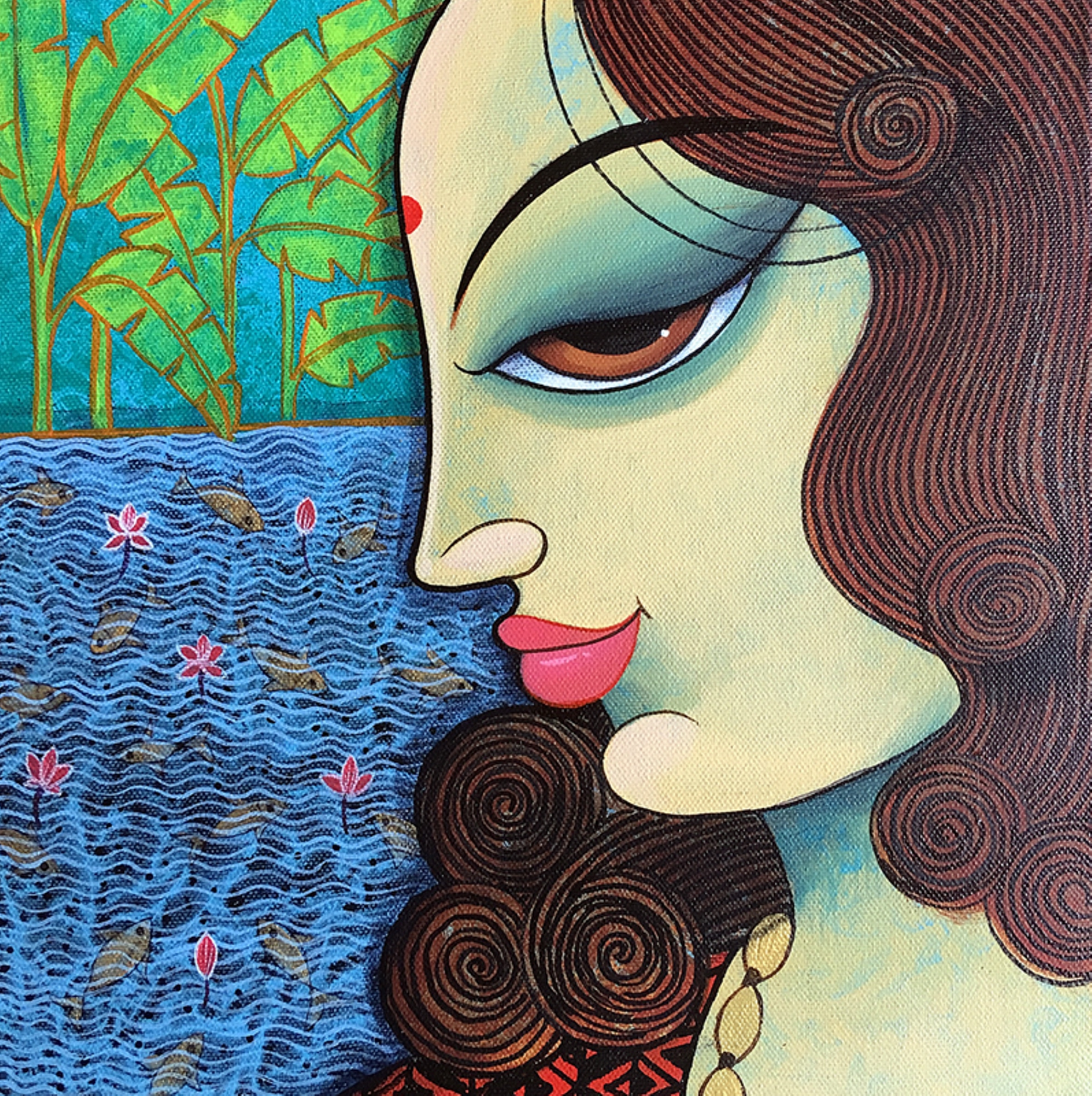 Buy Painting Face 35 Artwork No 14058 By Indian Artist