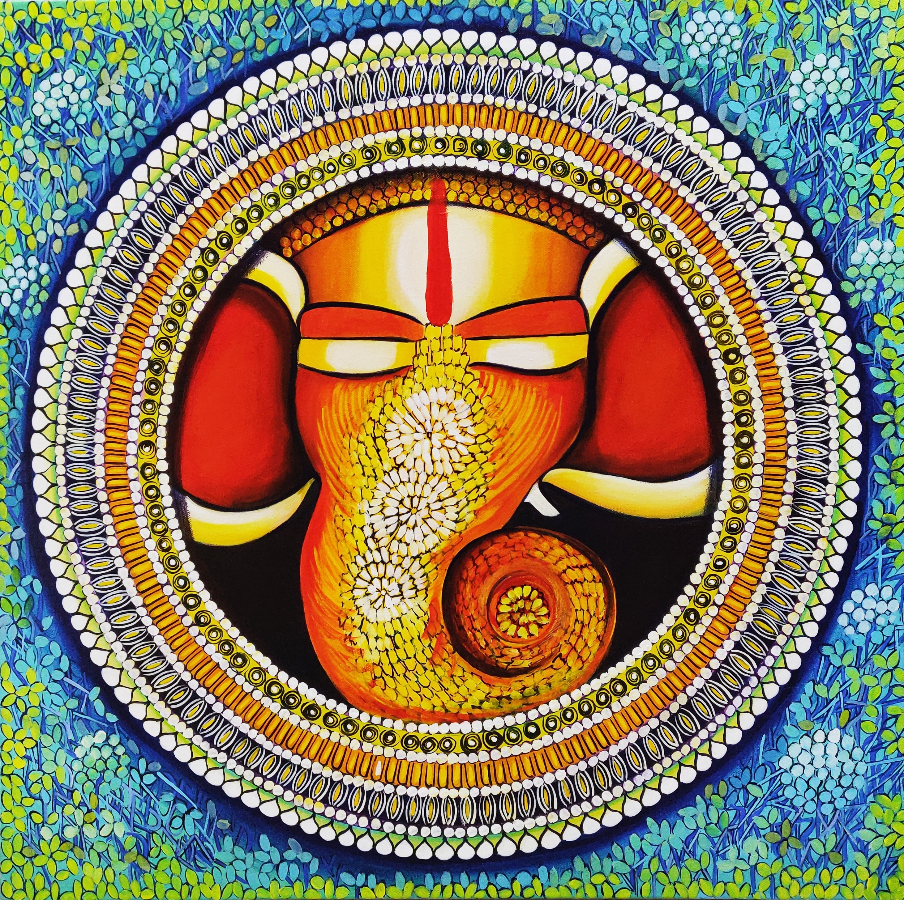 Ganesha - prosperity begins with the peace. 15079