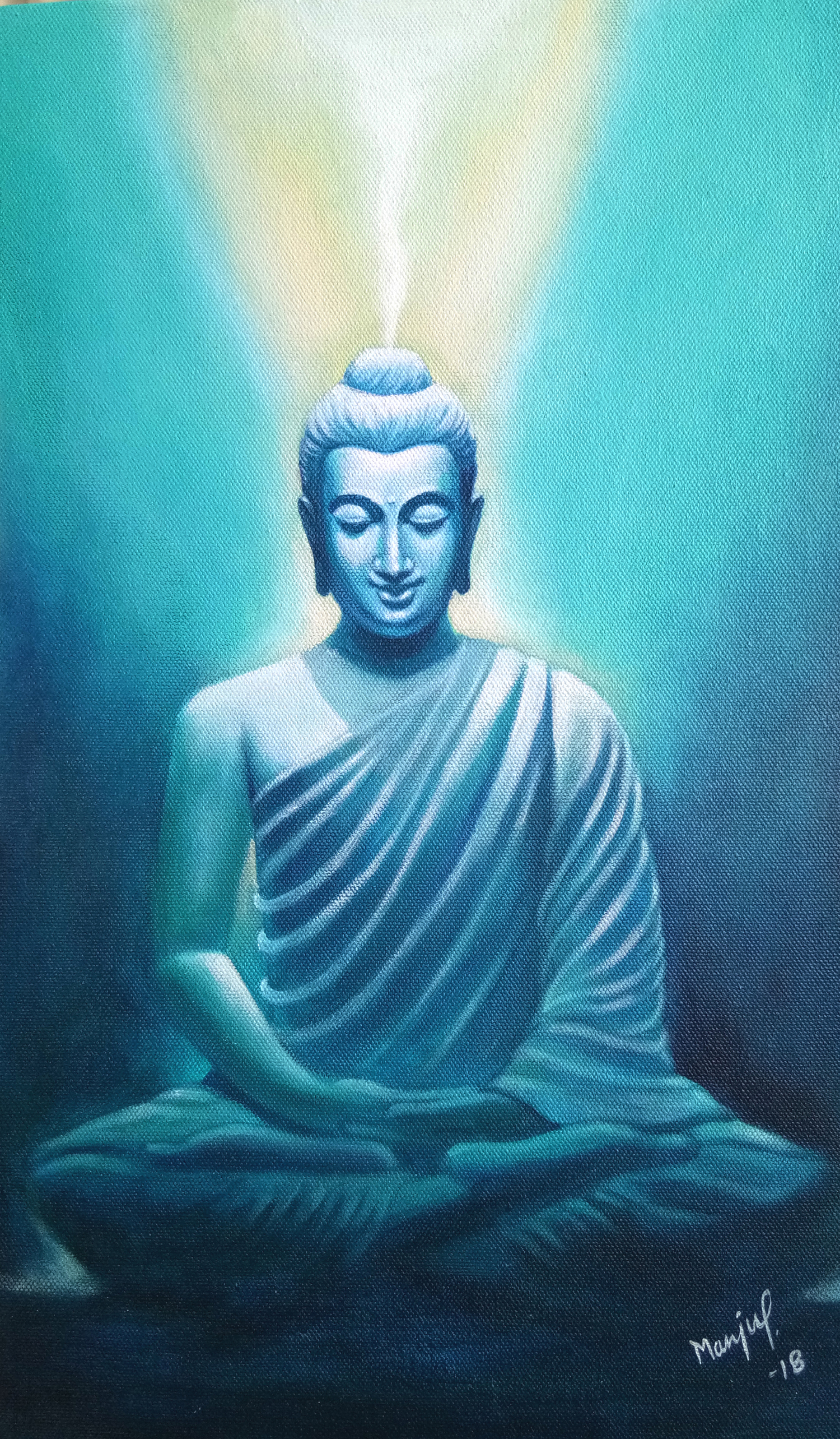 Buddha in light 15322