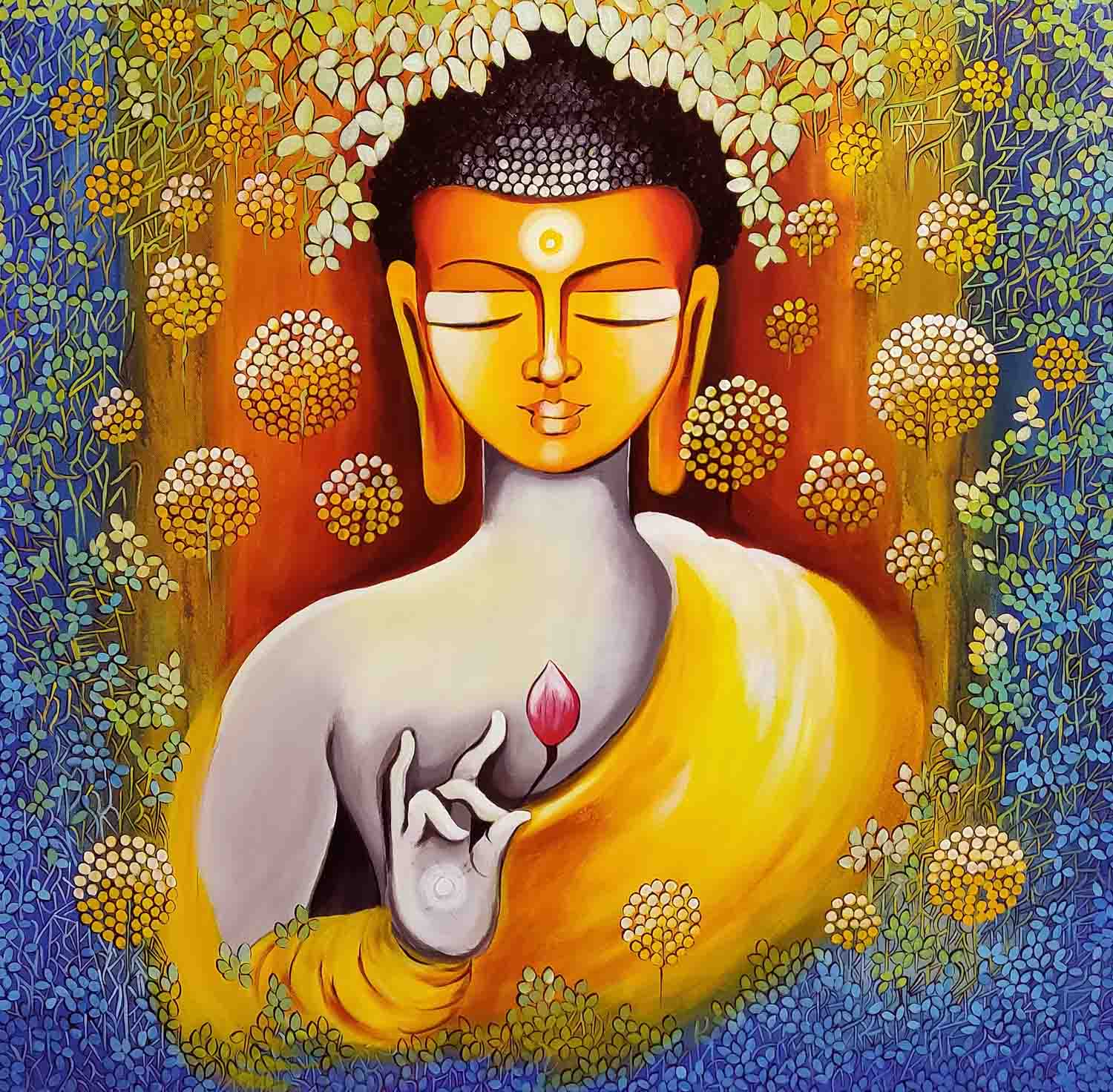 BUDDHA - PEACE BEGINS WITH SElf LOVE 15404