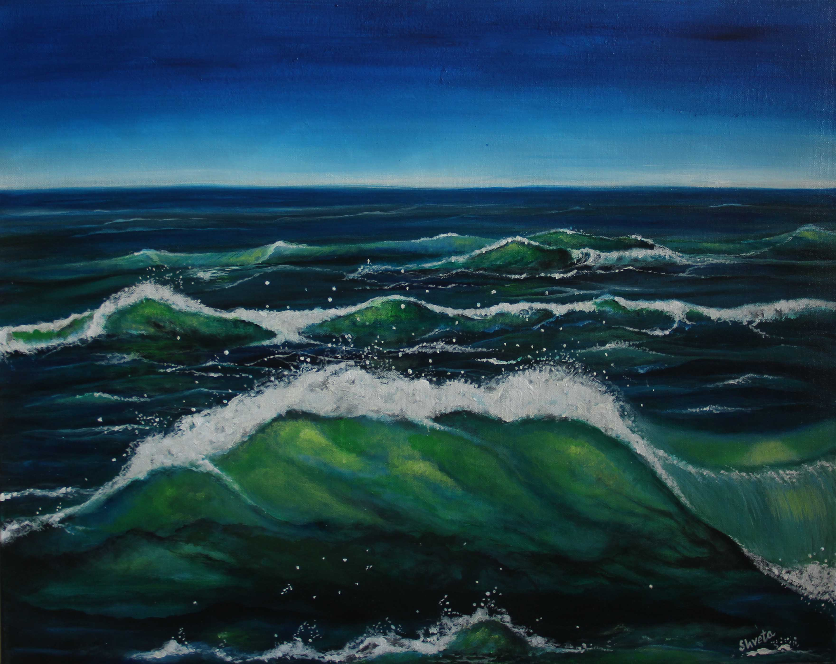 Emerald Waves 15452
