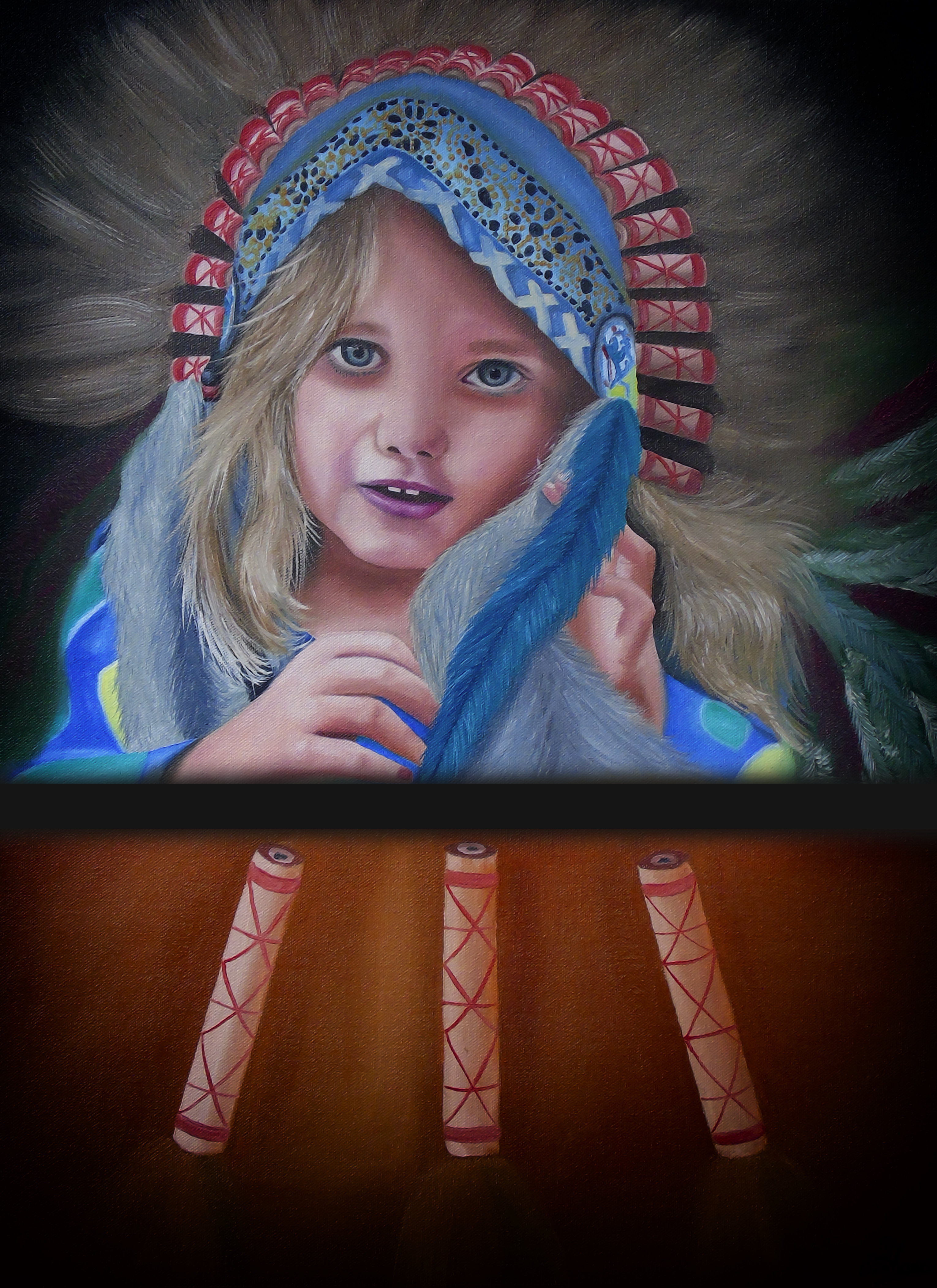 North American Indian Girl 15464