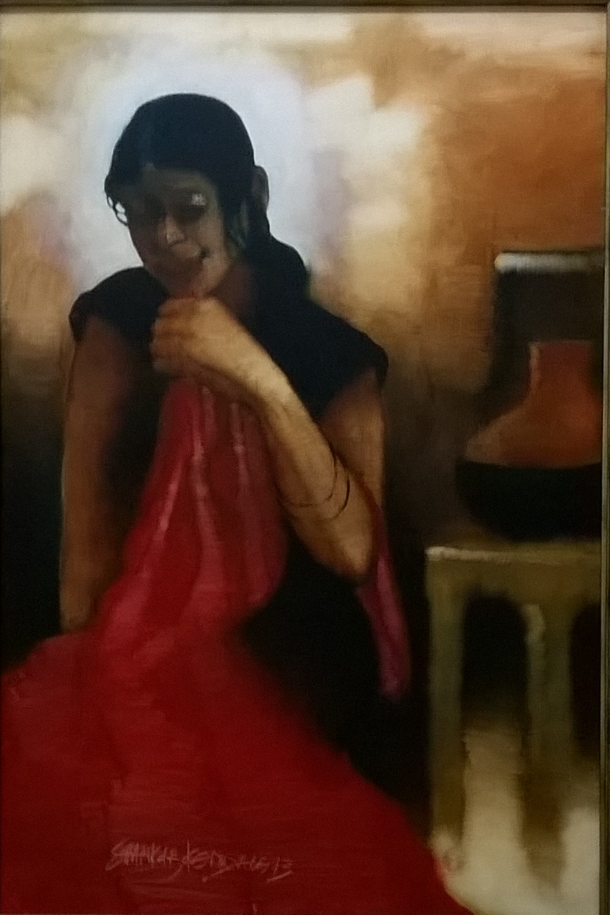 girl in red and black 15776
