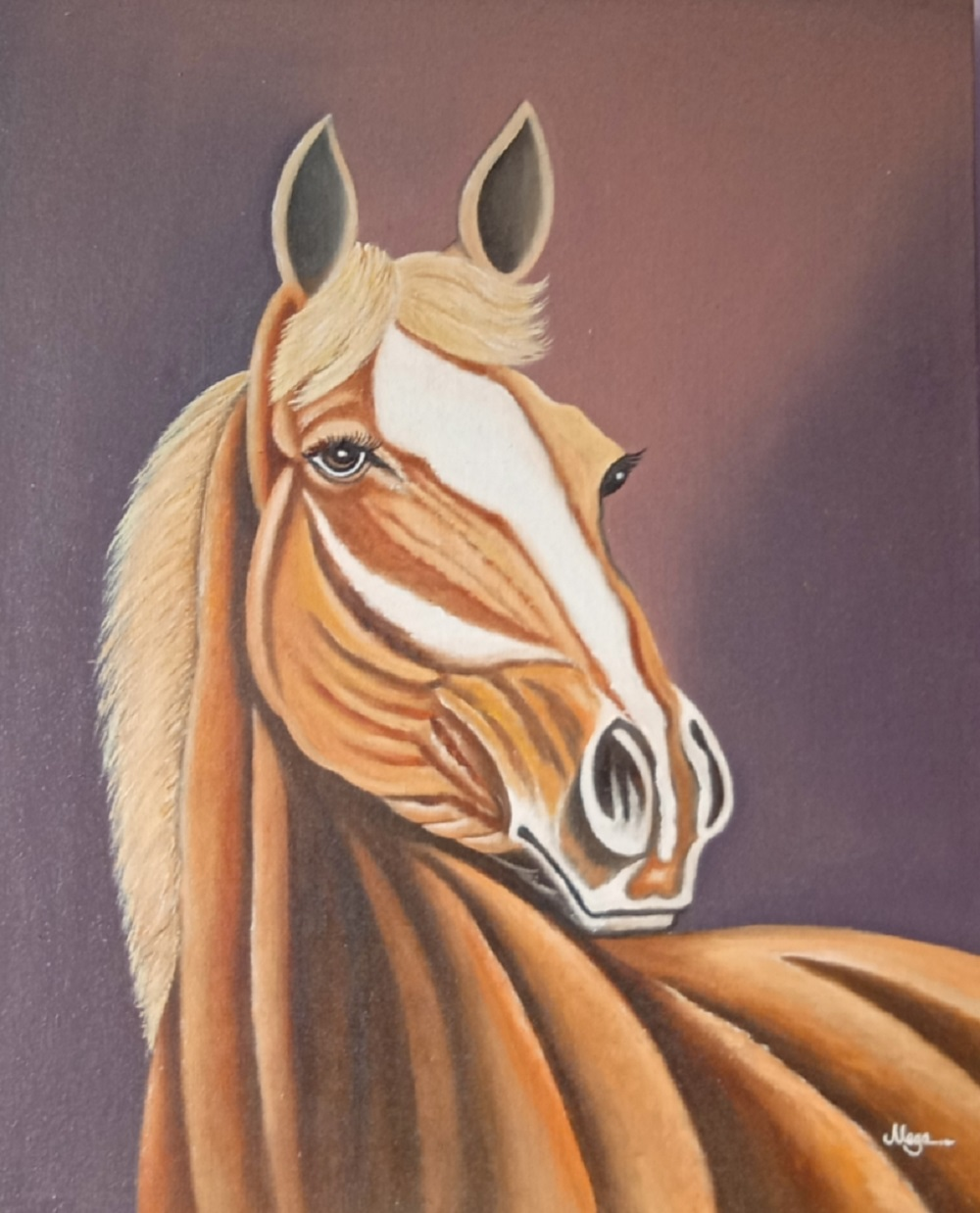 Buy Painting Vastu Horse Painting Artwork No 16036 By Indian Artist Meganathan M