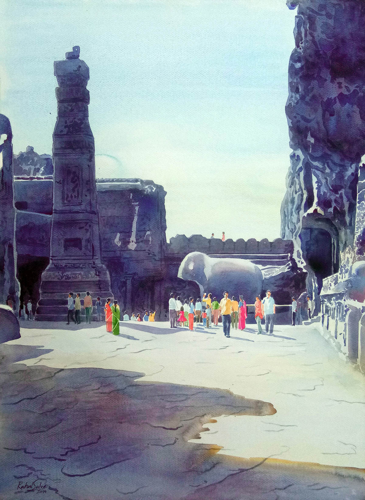One Fine Day At The Ellora Caves III 16689
