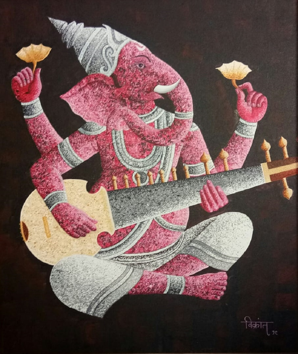 Ganesha playing Sarod 16894
