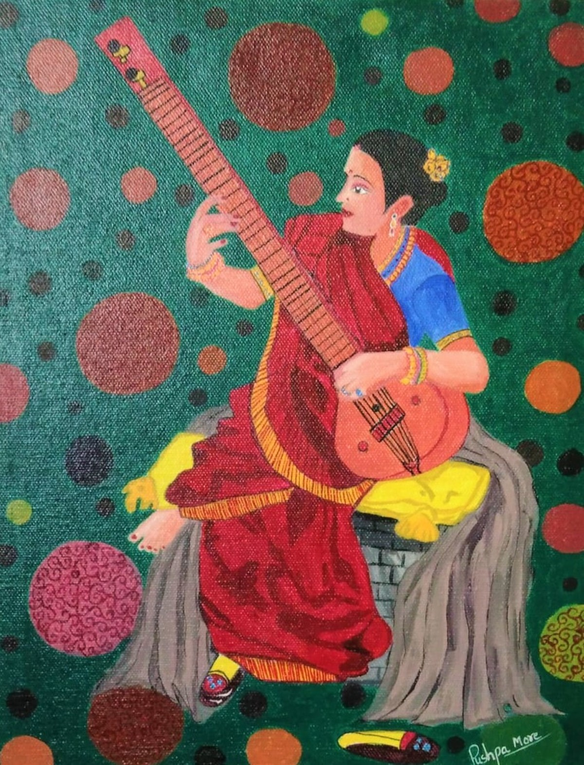 Woman with guitar 17545
